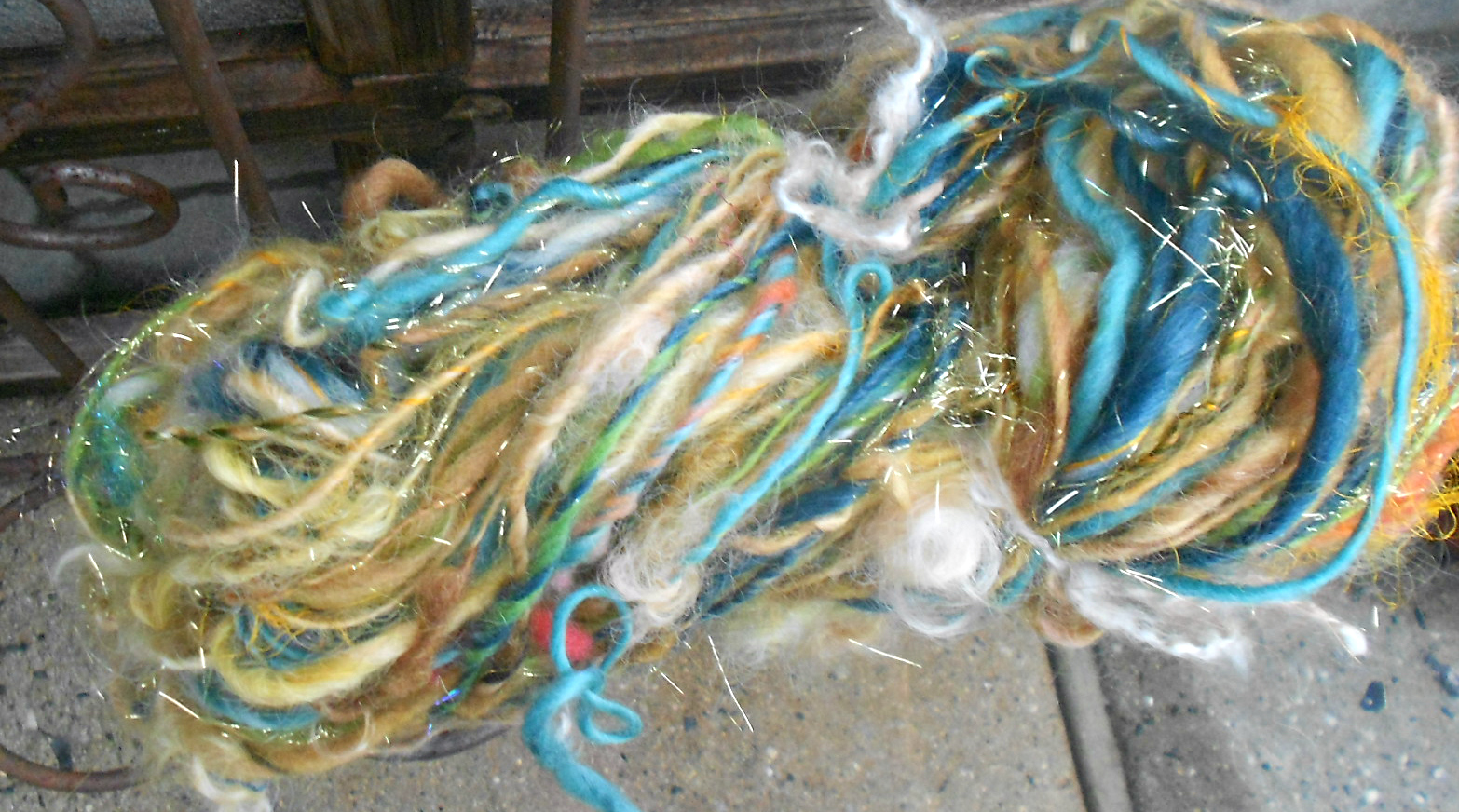 The whole skein before it was divided into individual ritual cords.  Each cord is different so they're all listed separately.