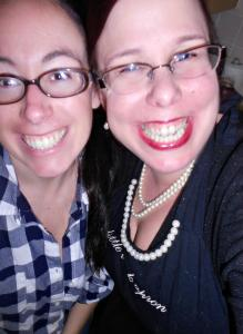 I like this one from a Christmas Eve.  We were really laughing at something.